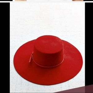 Urban Outfitters Brixton red wide brim hat
